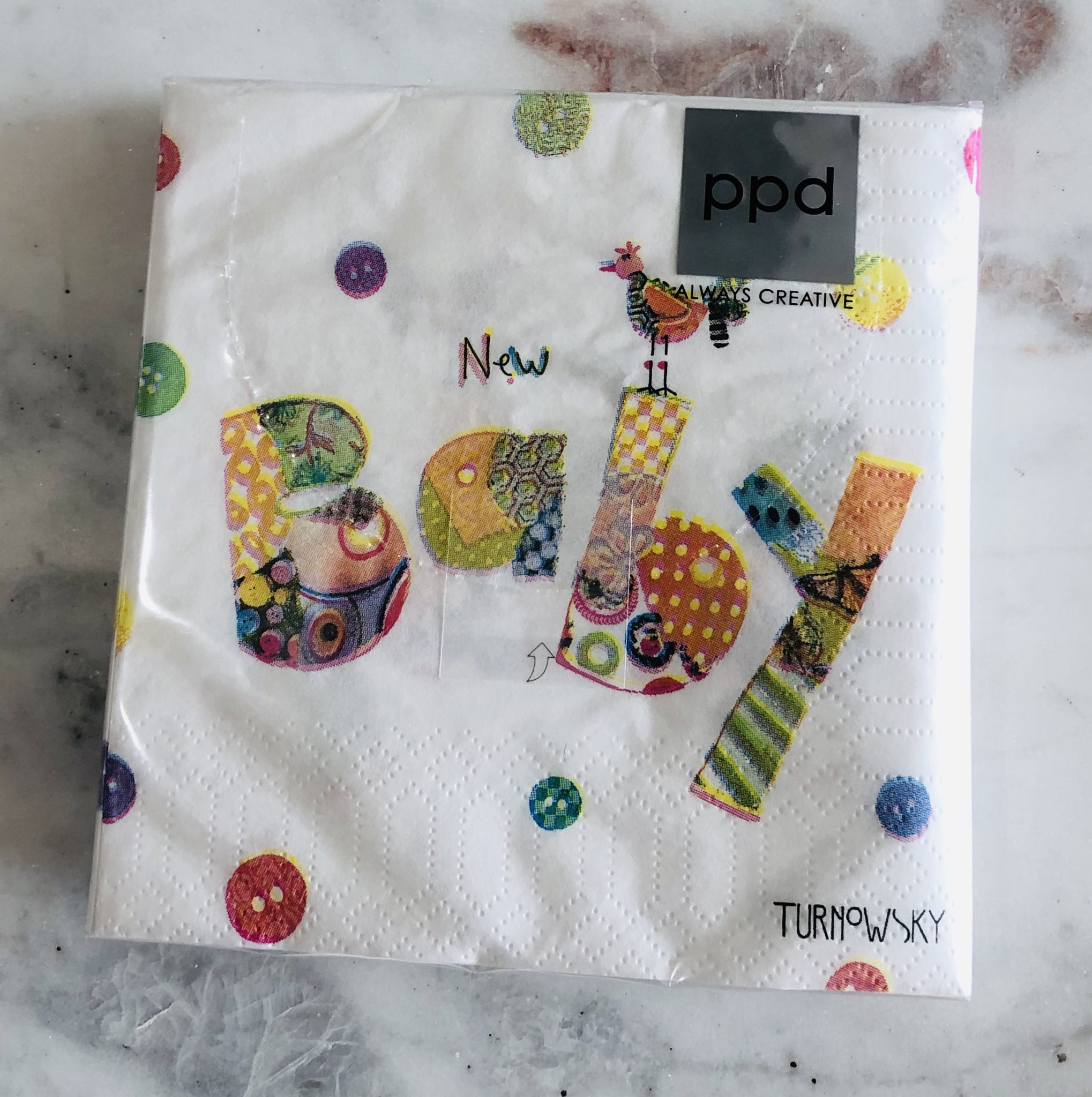 New Baby beverage napkins