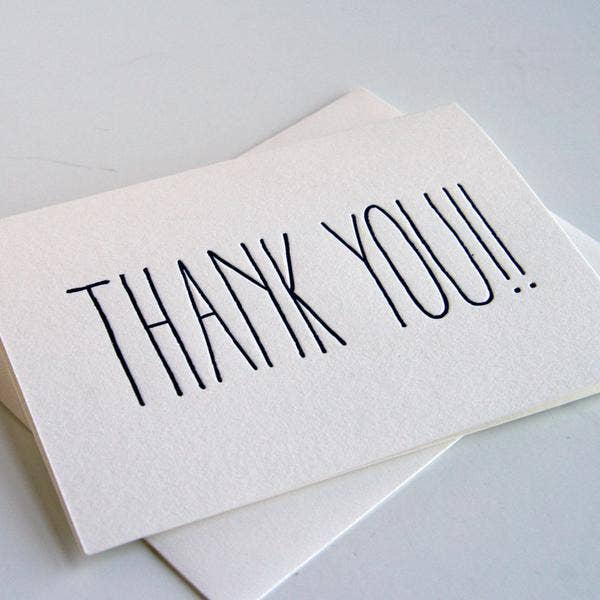 Thank You!! Card | Set of 6