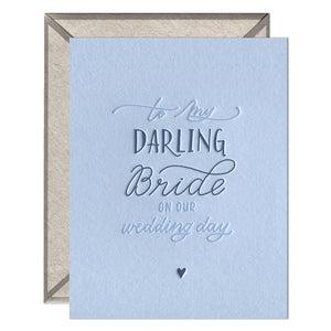 Darling Bride - greeting card