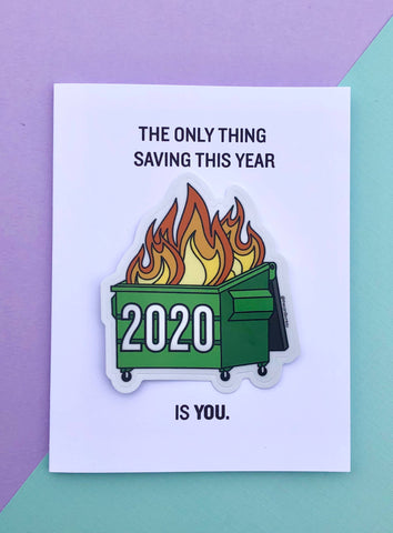 2020 Funny Quarantine Card and Sticker Combo
