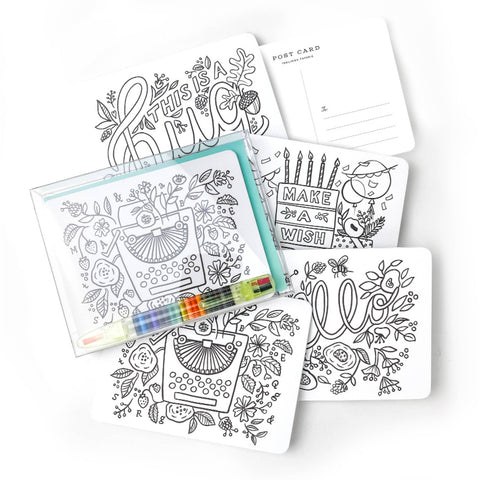 Box of 12 - Color-In Postcard Kit