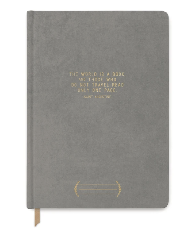 The World is a Book Cloth Suede Journal