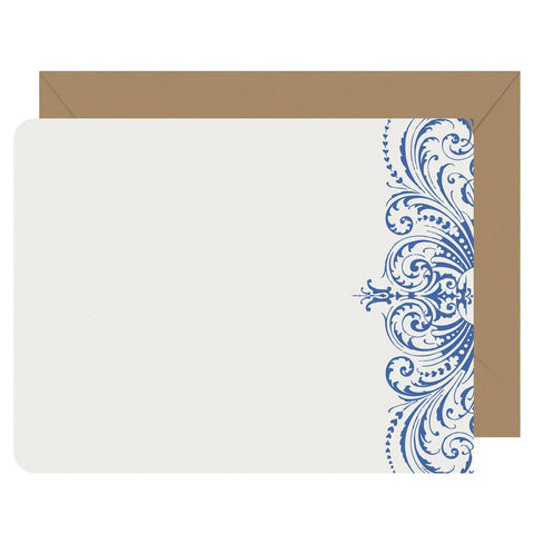 Note Cards Letterpress Lace - Boxed Set of 8