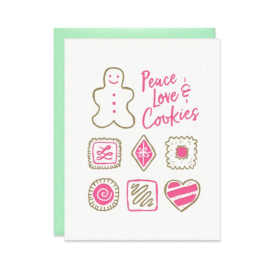 Peace Love and Cookies Card