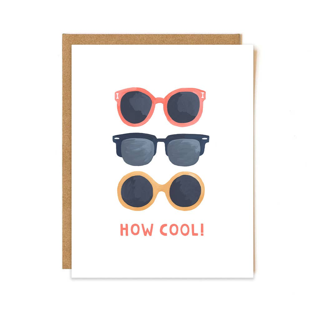 How Cool Sunglasses Greeting Card Stationery