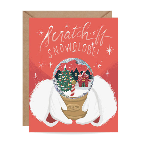 North Pole Snow Globe Scratch-off