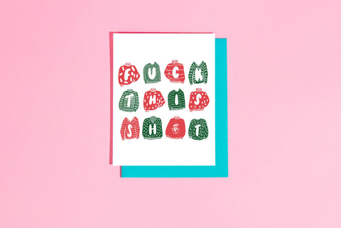 Fuck this Shit Ugly Sweater Greeting Card