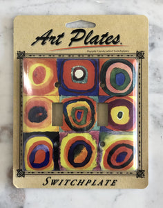 Art Plate Kandinsky Quadrat double
