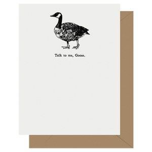 Punny Talk to me, Goose Letterpress Greeting Card
