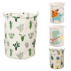 Cute Laundry Hampers Collapsible, Waterproof Storage Baskets