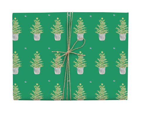 Christmas Tree Gift Wrap Roll