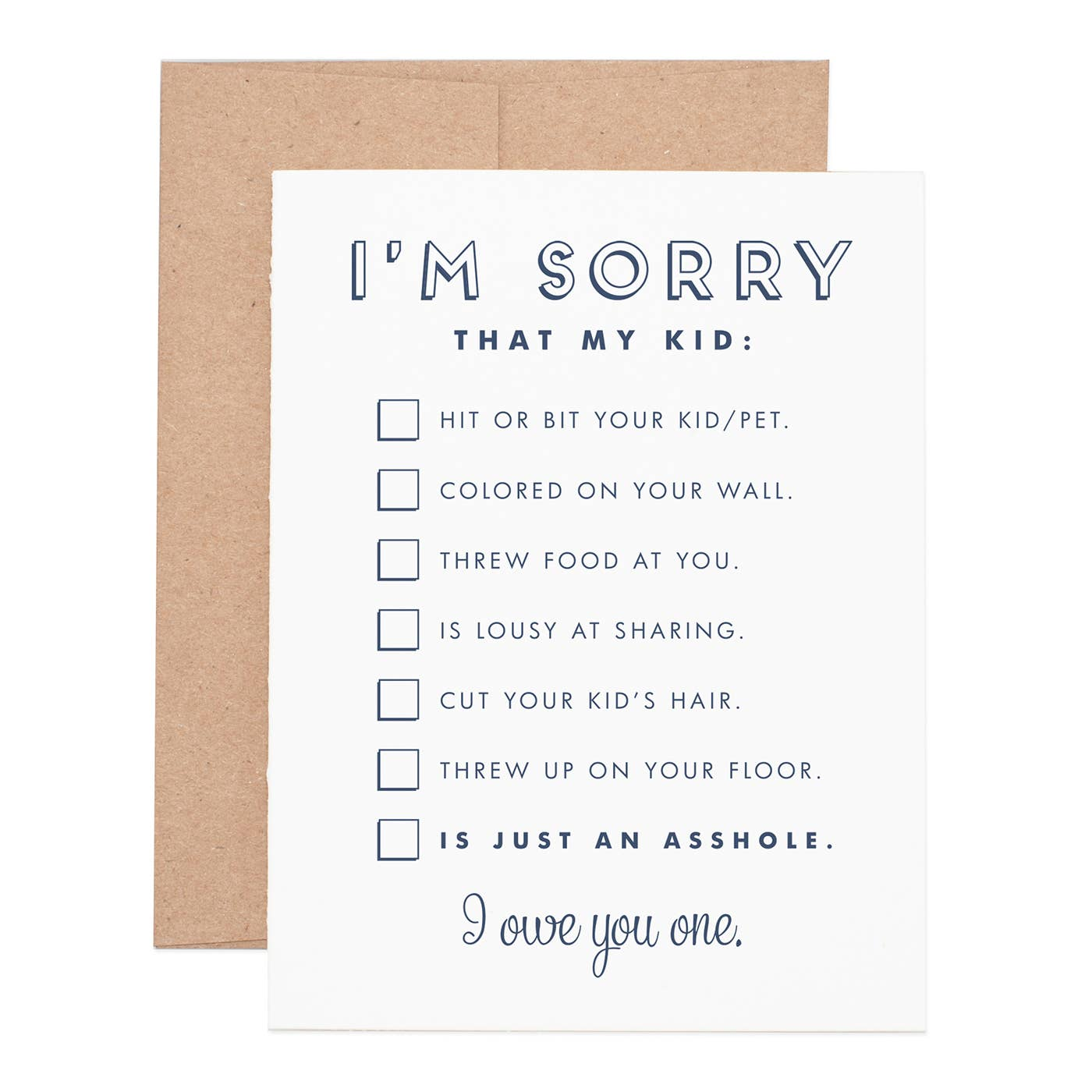 I'm Sorry…Asshole Kid Greeting Card