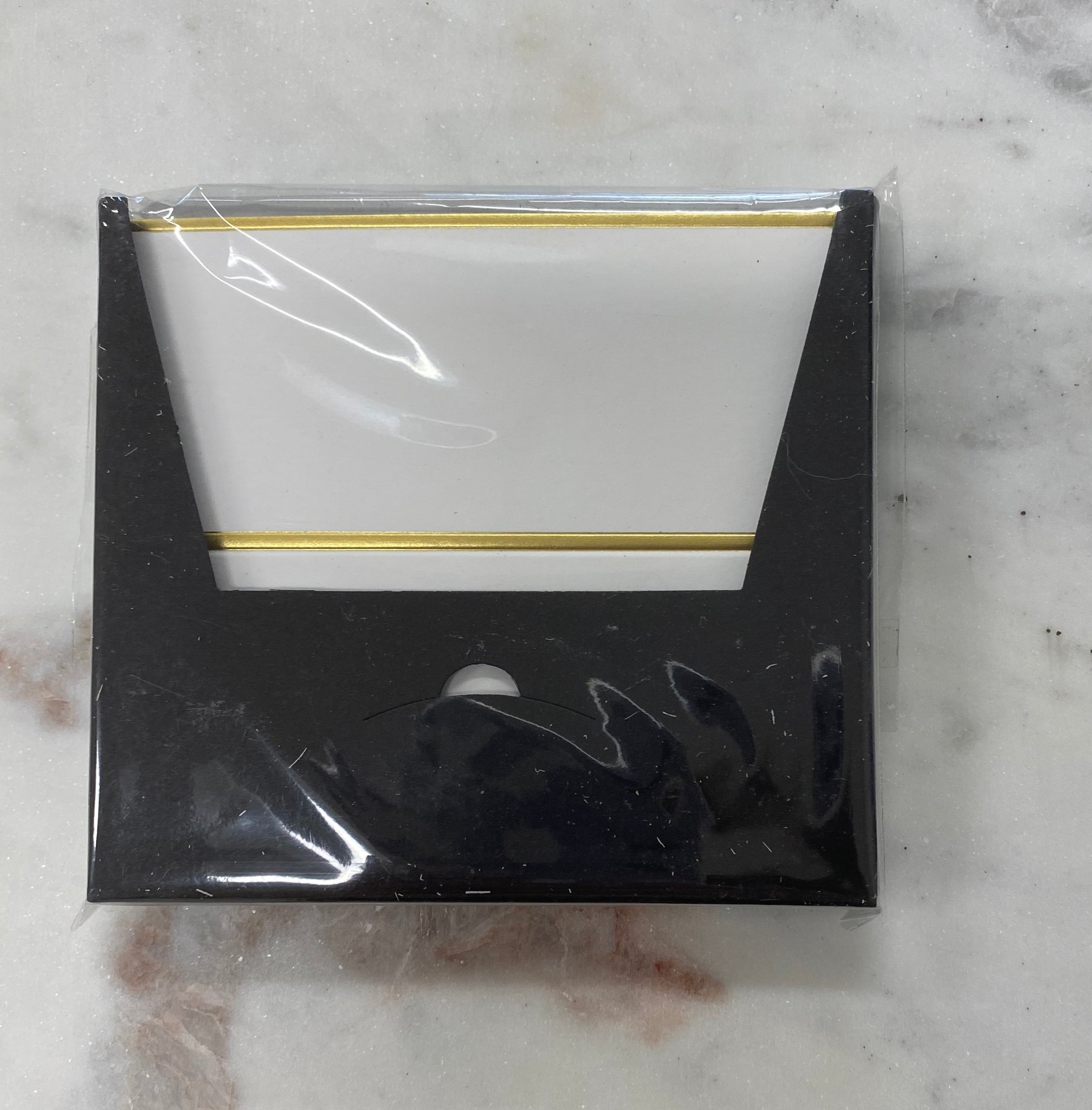 Place Card Pochette smooth white gold edges
