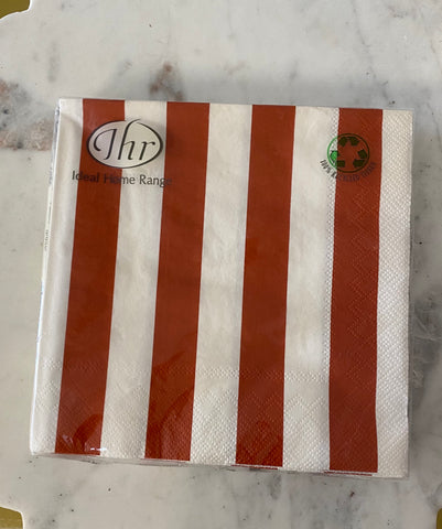 Big Stripes Red Luncheon Napkin