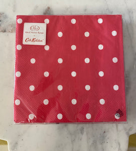 Hot pink polka dot Luncheon Napkin