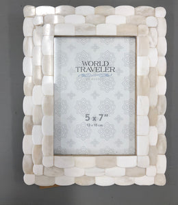 5 x 7 Frame Ivory Scalloped