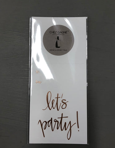 Let's Party Wine Tag