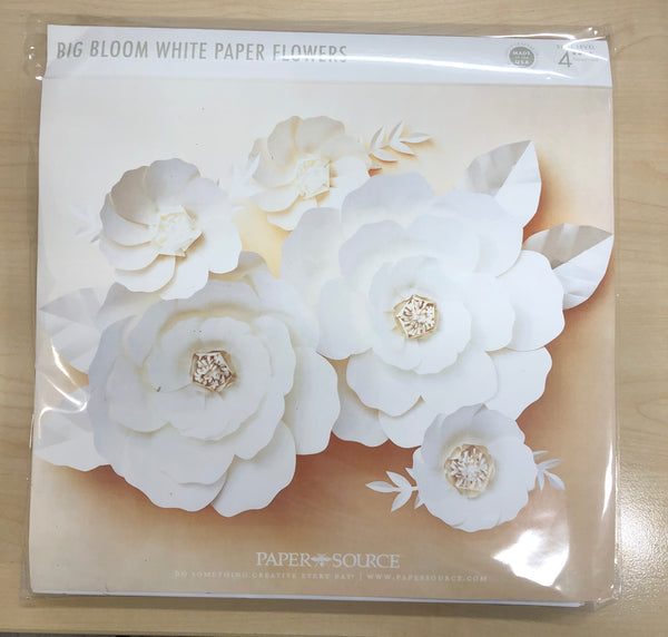 Big bloom white paper flowers