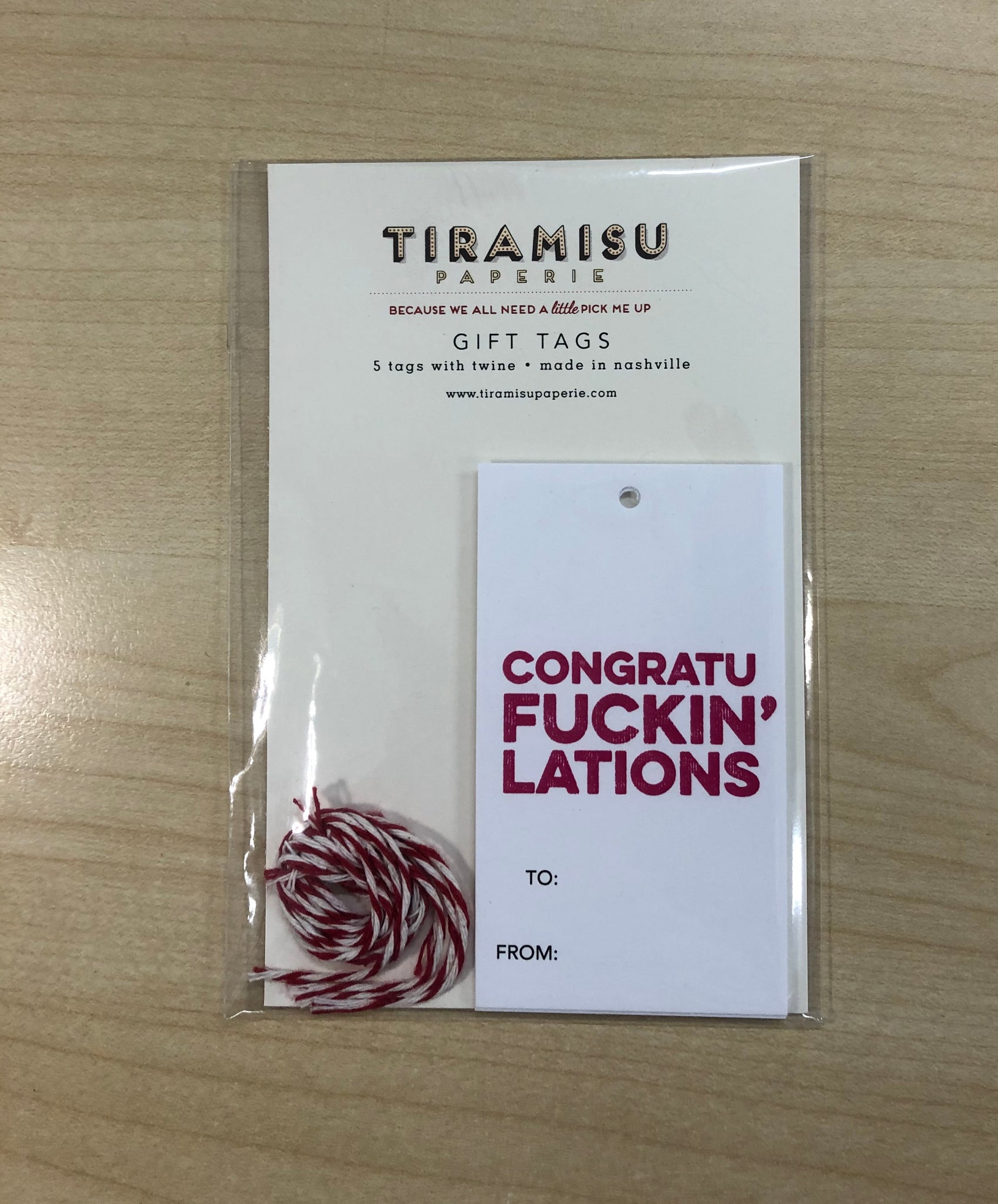 Congratufuckin'lations Gift Tags