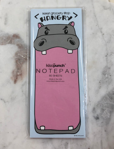 Hangry Hippo List Notepad