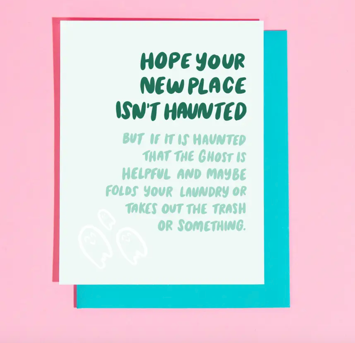 New Place Haunted Card