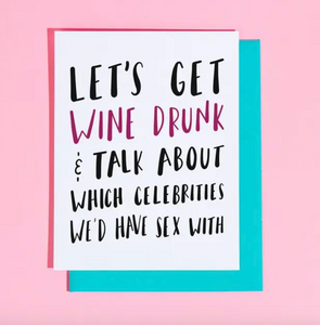 Wine Drunk Card