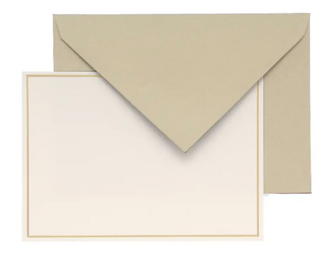 G. Lalo Champagne Bordered Correspondence Card Set