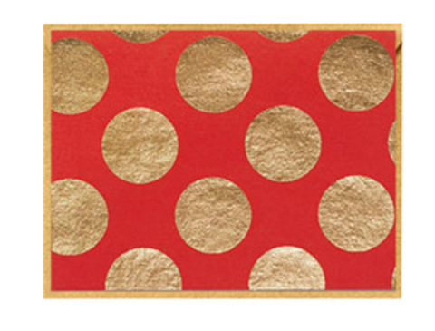 Gold Dots on Red note cards