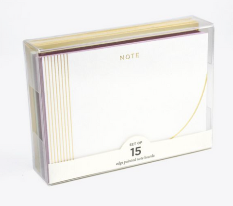 Noted Curve Edge Painted Note Cards