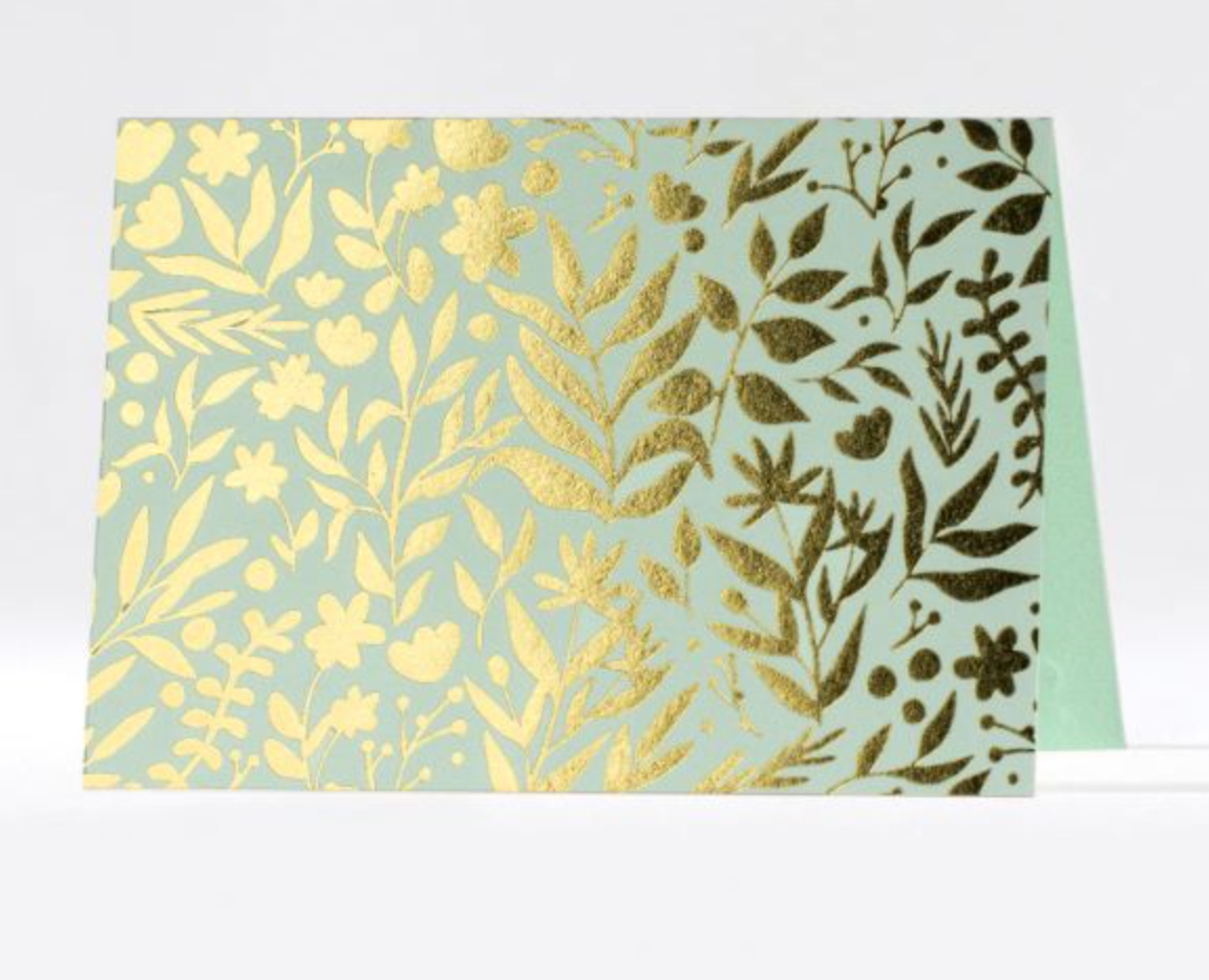Golden Citrus Field Folded Notes
