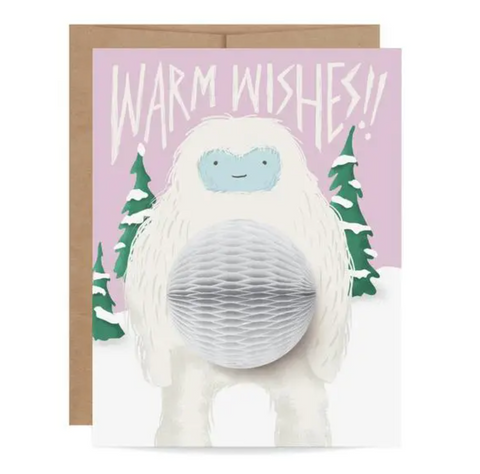 Yeti Pop-up Card