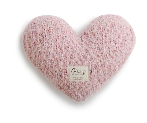 Giving Heart Pillow Pink