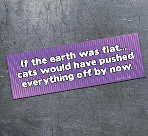 If the Earth Was Flat Magnet