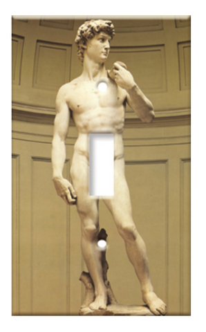 Art Plate Michelangelo's David