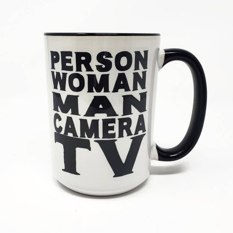Person, Woman, Man, Camera, TV, Trump Cognitive Mug