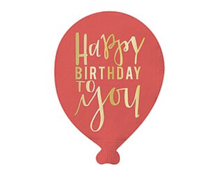 Birthday Balloon Die Cut Napkins