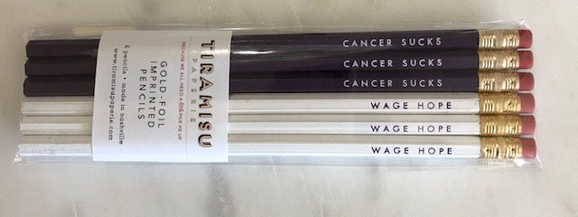 Cancer Sucks Wage Hope Pencils
