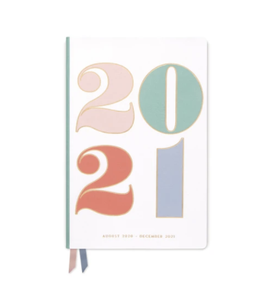 2021 Colorful 17 Month Planner Vegan Leather