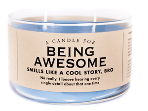 Being Awesome Candle