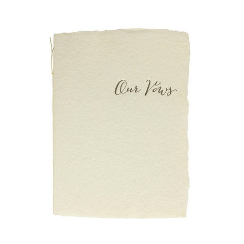 Our Vows Calligraphy Book
