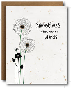 Sympathy Card Plantable Seeded Paper