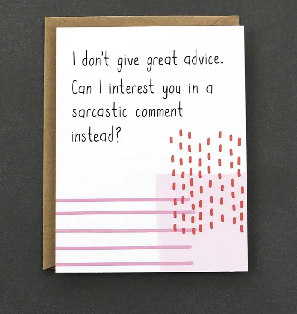 Sarcastic Comment Card