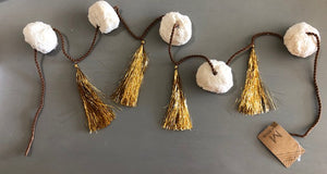 Gum Ball Tassel Garland  - White