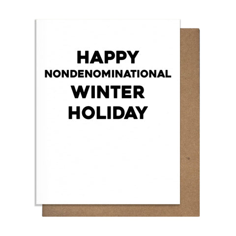 Nondenominational Winter Holiday Card