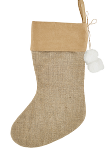 Holiday Stocking Burlap