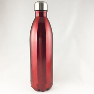 Extra Large Stainless Steel Double Wall Vacuum Insulated Water Bottle 34oz (1L) - beleafgreen