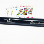 "Bow to the King! Unique Extendable  Metal Straw with Carrying Case, Black, ""King"""