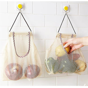 Mesh Food Storage Bag with Handle - beleafgreen