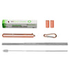 "Unique Telescopic Stainless Steel Metal Straw with Carrying Case, Rose Gold, ""Queen"" - beleafgreen"