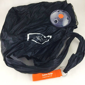 Reusable Grocery Shoulder Bag with Retractable Disk - beleafgreen